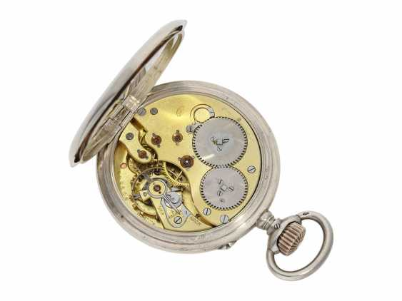 Pocket watch: IWC man's pocket watch with very rare 2-coloured dial, No. 309843, Schaffhausen CA. 1906 - photo 2