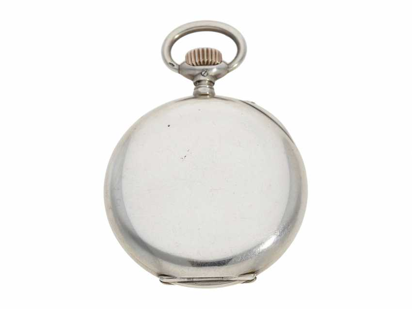 Pocket watch: IWC man's pocket watch with very rare 2-coloured dial, No. 309843, Schaffhausen CA. 1906 - photo 6