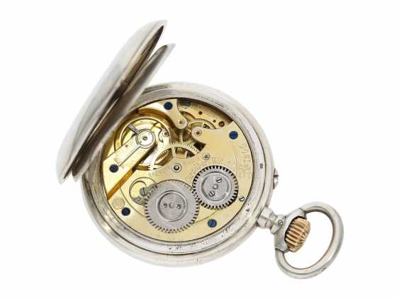 Pocket watch: rare digital pocket watch with jumping hour and jumping Minute, System Pallweber, Cortebert No. 7200, CA. 1900 - photo 2