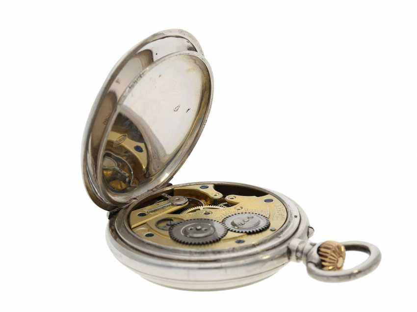 Pocket watch: rare digital pocket watch with jumping hour and jumping Minute, System Pallweber, Cortebert No. 7200, CA. 1900 - photo 3
