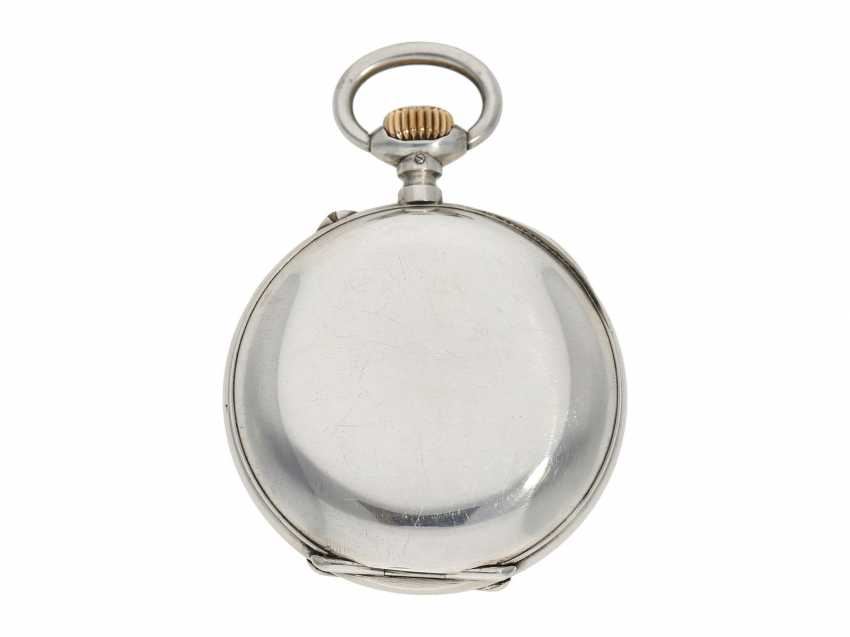 Pocket watch: rare digital pocket watch with jumping hour and jumping Minute, System Pallweber, Cortebert No. 7200, CA. 1900 - photo 5