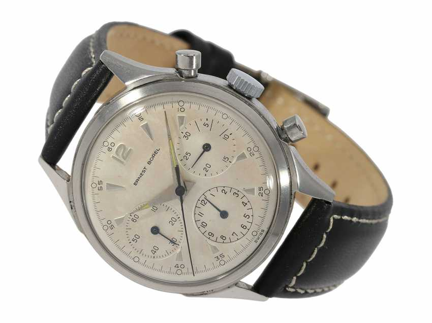 Watch: very beautiful vintage Chronograph with the housing bolted and caliber Valjoux 72, signed Ernest Borel, probably ' 50s - photo 1