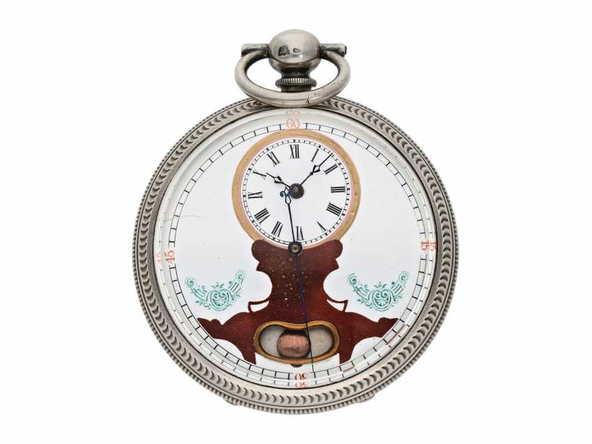 Pocket watch: large men's pocket watch with a Central seconds hand and slip the pendulum, Swiss for the Chinese market, CA. 1870 - photo 1