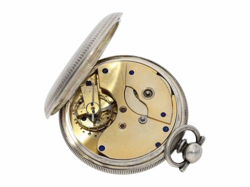 Pocket watch: large men's pocket watch with a Central seconds hand and slip the pendulum, Swiss for the Chinese market, CA. 1870 - photo 2