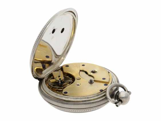 Pocket watch: large men's pocket watch with a Central seconds hand and slip the pendulum, Swiss for the Chinese market, CA. 1870 - photo 3