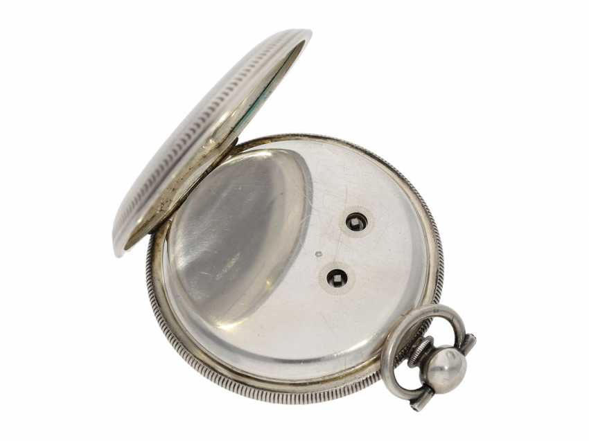 Pocket watch: large men's pocket watch with a Central seconds hand and slip the pendulum, Swiss for the Chinese market, CA. 1870 - photo 4