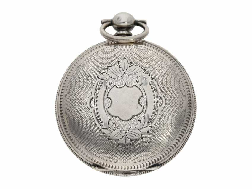 Pocket watch: large men's pocket watch with a Central seconds hand and slip the pendulum, Swiss for the Chinese market, CA. 1870 - photo 7