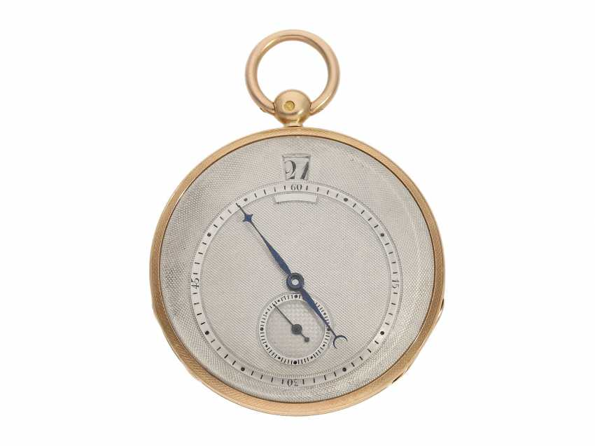 Pocket watch: fine red-gold Lepine with jumping hour and local time display, Breguet students, Giteau Eleve de Breguet, No. 1465, CA. 1830 - photo 1