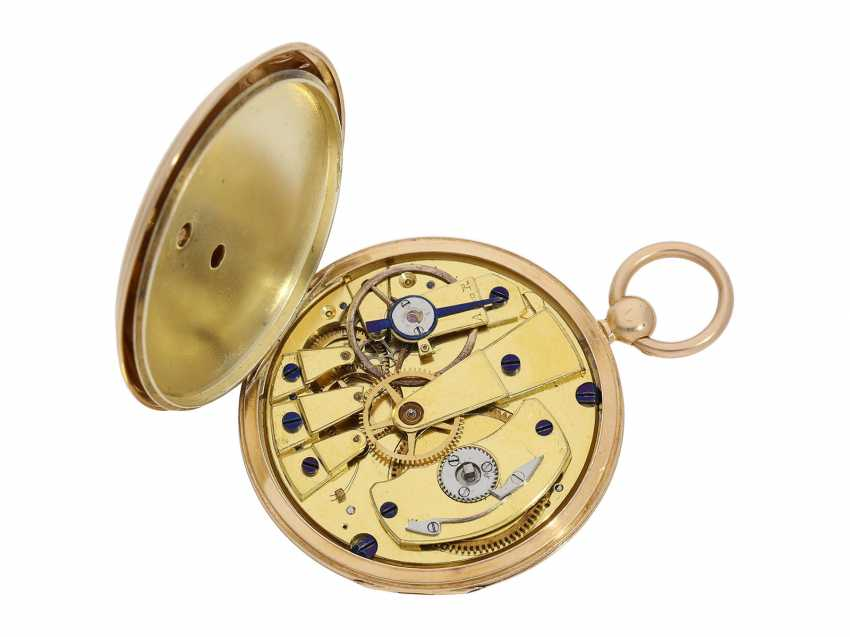 Pocket watch: fine red-gold Lepine with jumping hour and local time display, Breguet students, Giteau Eleve de Breguet, No. 1465, CA. 1830 - photo 2