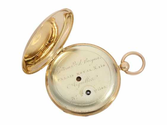 Pocket watch: fine red-gold Lepine with jumping hour and local time display, Breguet students, Giteau Eleve de Breguet, No. 1465, CA. 1830 - photo 3