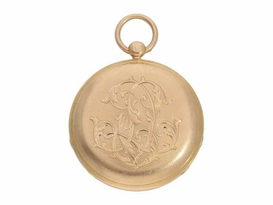 Pocket watch: fine red-gold Lepine with jumping hour and local time display, Breguet students, Giteau Eleve de Breguet, No. 1465, CA. 1830 - photo 5