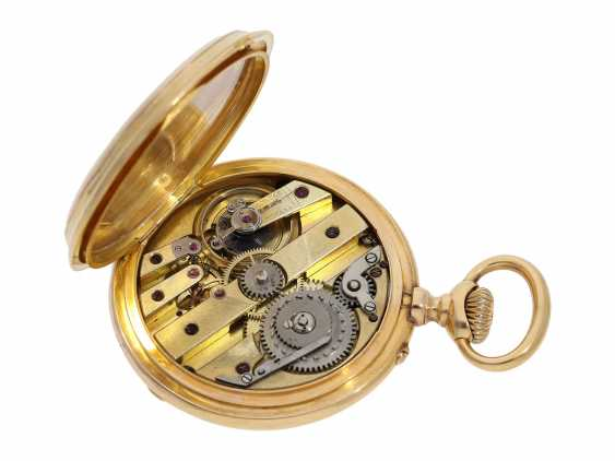 Pocket watch: technical interesting pocket watch with rare winding mechanism according to the above-Courvoisier and a fine En grisaille enamel painting, Switzerland around 1880, No. 8830 - photo 2