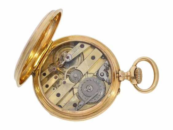 Pocket watch: technical interesting pocket watch with rare winding mechanism according to the above-Courvoisier and a fine En grisaille enamel painting, Switzerland around 1880, No. 8830 - photo 3