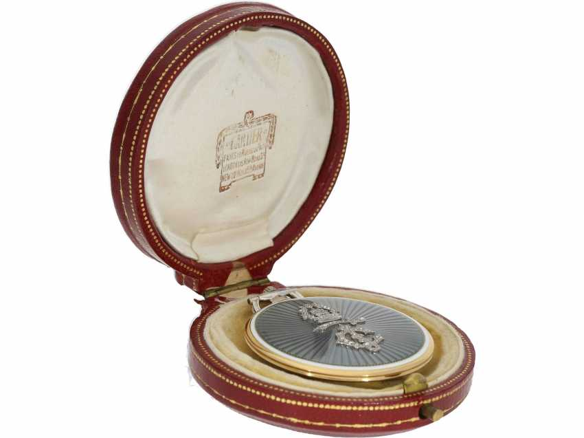 Pocket watch: unique, historically significant Cartier pocket watch with original box, a gift from the English Royal family, under George V, at the same time the Emperor of India, to an Indian Prince-house, including archive information, by Cartier - photo 12