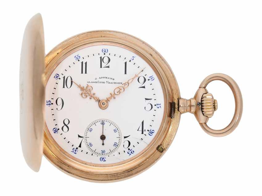 Pocket watch: red gold glashütte precision pocket watch, Julius Assmann No. 12814, CA. 1900 - photo 1