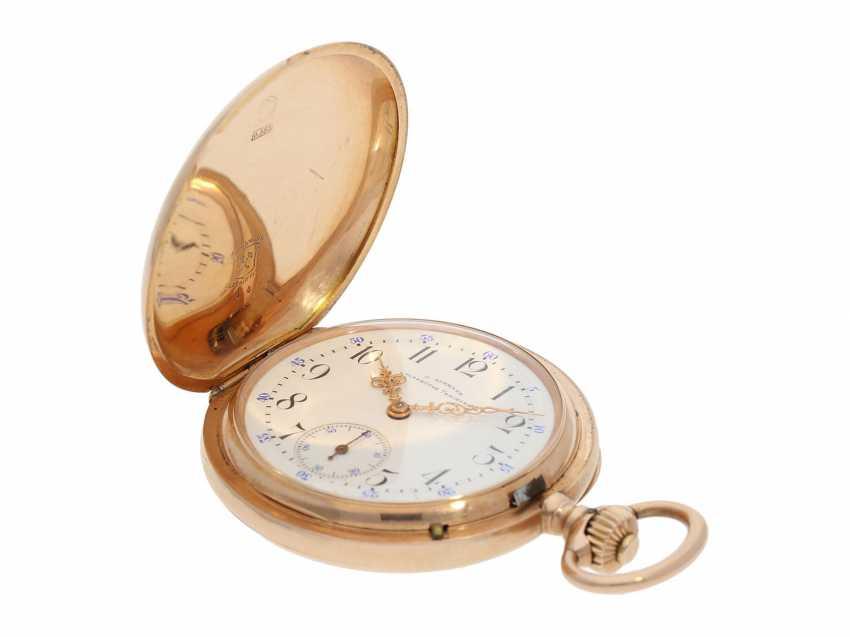 Pocket watch: red gold glashütte precision pocket watch, Julius Assmann No. 12814, CA. 1900 - photo 2
