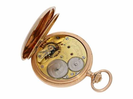 Pocket watch: red gold glashütte precision pocket watch, Julius Assmann No. 12814, CA. 1900 - photo 3