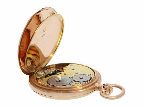 Pocket watch: red gold glashütte precision pocket watch, Julius Assmann No. 12814, CA. 1900 - photo 4