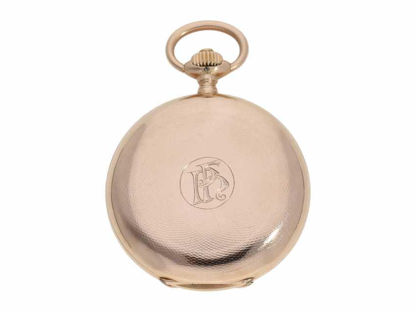 Pocket watch: red gold glashütte precision pocket watch, Julius Assmann No. 12814, CA. 1900 - photo 6