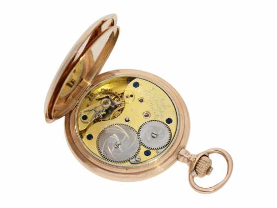 Pocket watch: red gold, A. Lange & Söhne Glashütte gold savonnette, No. 53168, Glashütte CA. 1904, with the master excerpt from the book - photo 5