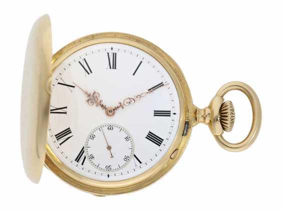 Pocket watch: Patek Philippe Anker chronometer, gold savonnette No. 67197, Geneva, CA. 1890 - photo 1