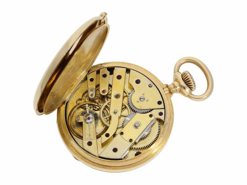 Pocket watch: Patek Philippe Anker chronometer, gold savonnette No. 67197, Geneva, CA. 1890 - photo 2