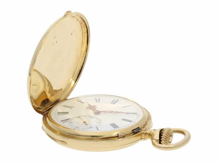 Pocket watch: Patek Philippe Anker chronometer, gold savonnette No. 67197, Geneva, CA. 1890 - photo 4