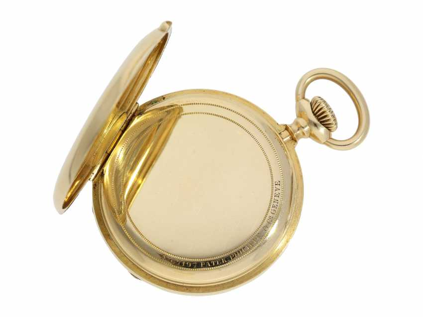 Pocket watch: Patek Philippe Anker chronometer, gold savonnette No. 67197, Geneva, CA. 1890 - photo 5