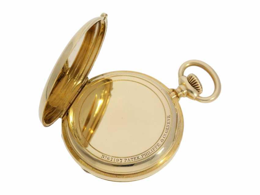Pocket watch: Patek Philippe Anker chronometer, gold savonnette No. 67197, Geneva, CA. 1890 - photo 6