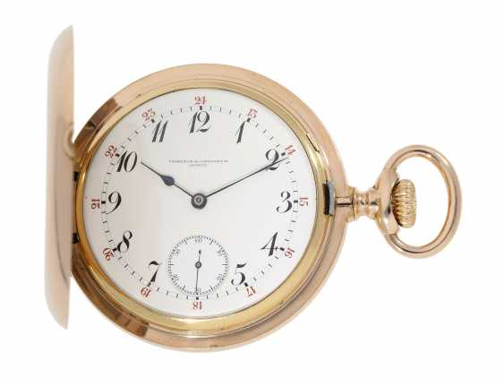 Pocket watch: extremely high-quality, heavy 18K rose gold Anchor chronometer by Vacheron & Constantin, probably an Observatory caliber, No 326982, Geneva, CA. 1909 - photo 1