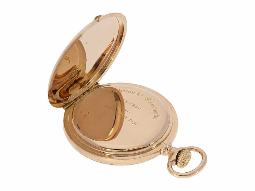 Pocket watch: extremely high-quality, heavy 18K rose gold Anchor chronometer by Vacheron & Constantin, probably an Observatory caliber, No 326982, Geneva, CA. 1909 - photo 3