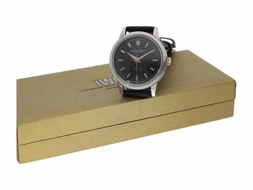 """Watch: IWC Ingenieur with black """"Tropical Dial"""" with Box and service papers, Schaffhausen, 1963 - photo 5"""