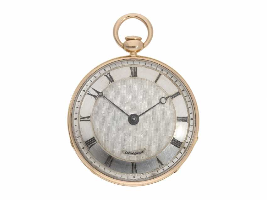 Pocket watch: very fine, almost mint-preserved Lepine, with stone cylinder, temperature compensation, and repeater signed Breguet, No. 577, Paris, around 1830 - photo 1