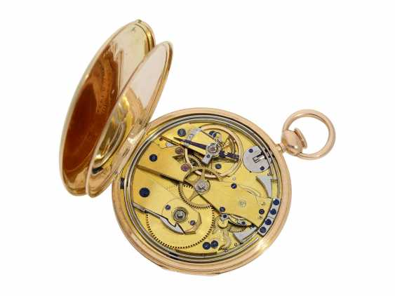 Pocket watch: very fine, almost mint-preserved Lepine, with stone cylinder, temperature compensation, and repeater signed Breguet, No. 577, Paris, around 1830 - photo 2