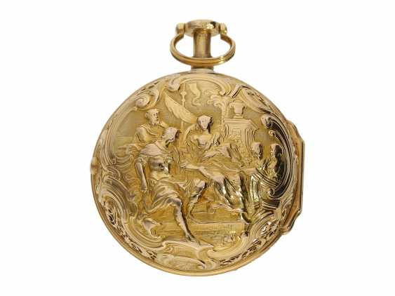 "Pocket watch: very fine double housing-spindle pocket watch with quarter-hour repeater 20K repair, replace-case ""Telemachus with Calypso,"" Jean Louis Argand, of Geneva & Paris, circa 1725 - photo 2"