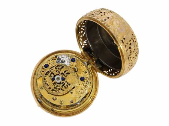"Pocket watch: very fine double housing-spindle pocket watch with quarter-hour repeater 20K repair, replace-case ""Telemachus with Calypso,"" Jean Louis Argand, of Geneva & Paris, circa 1725 - photo 6"