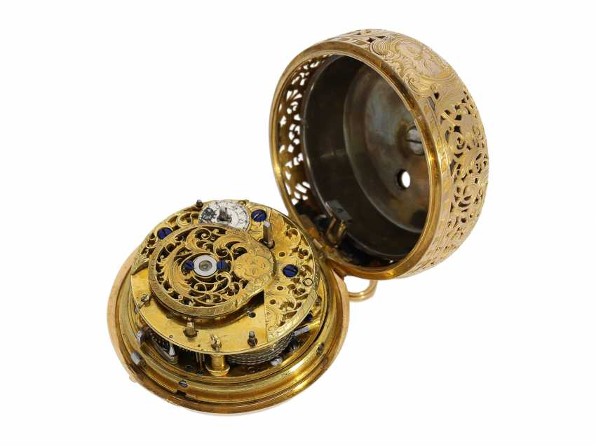 "Pocket watch: very fine double housing-spindle pocket watch with quarter-hour repeater 20K repair, replace-case ""Telemachus with Calypso,"" Jean Louis Argand, of Geneva & Paris, circa 1725 - photo 7"