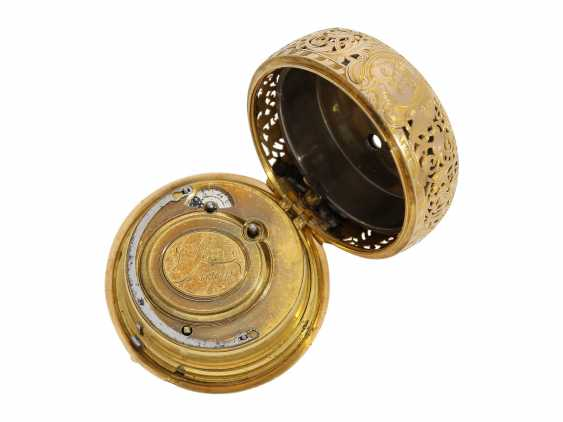 "Pocket watch: very fine double housing-spindle pocket watch with quarter-hour repeater 20K repair, replace-case ""Telemachus with Calypso,"" Jean Louis Argand, of Geneva & Paris, circa 1725 - photo 9"