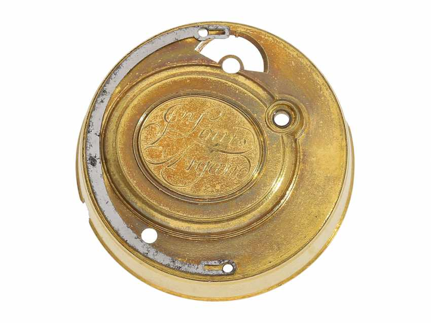 "Pocket watch: very fine double housing-spindle pocket watch with quarter-hour repeater 20K repair, replace-case ""Telemachus with Calypso,"" Jean Louis Argand, of Geneva & Paris, circa 1725 - photo 10"