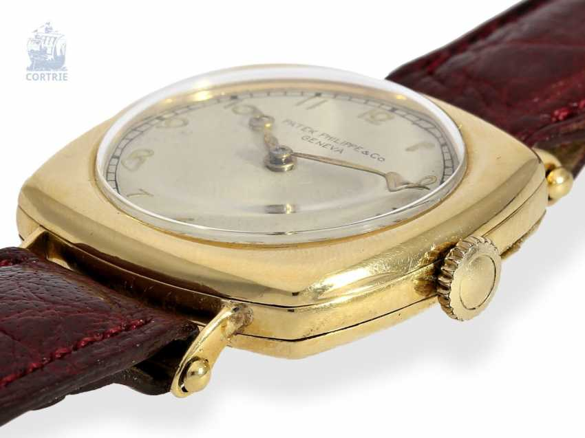 "Watch: Patek Philippe rarity, one of the earliest Patek Philippe watches ""Cushion-Shape"" 18K Gold, Geneva, in 1908, with the master excerpt from the book - photo 3"