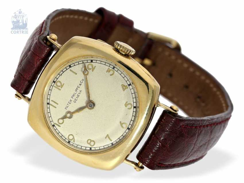 "Watch: Patek Philippe rarity, one of the earliest Patek Philippe watches ""Cushion-Shape"" 18K Gold, Geneva, in 1908, with the master excerpt from the book - photo 4"