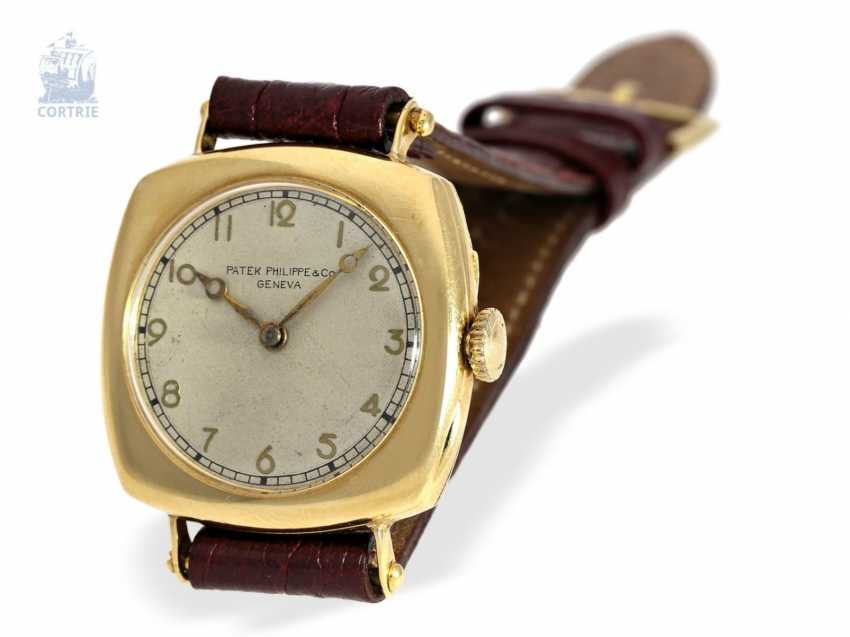"Watch: Patek Philippe rarity, one of the earliest Patek Philippe watches ""Cushion-Shape"" 18K Gold, Geneva, in 1908, with the master excerpt from the book - photo 6"