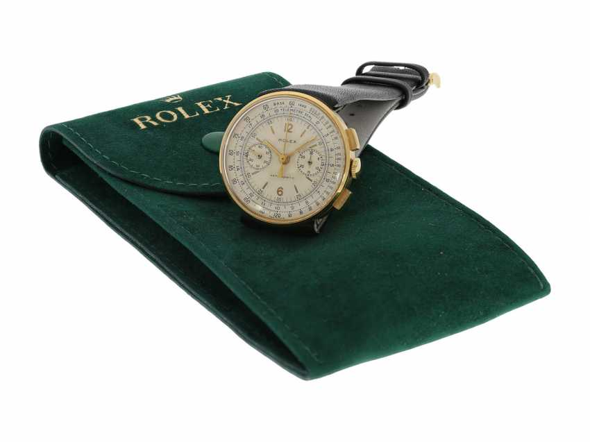 """Watch: extremely rare Rolex Chronograph Antimagnetic, so-called """"Moneta"""" with invisible lugs No. 56741, CA. 1938 - photo 2"""