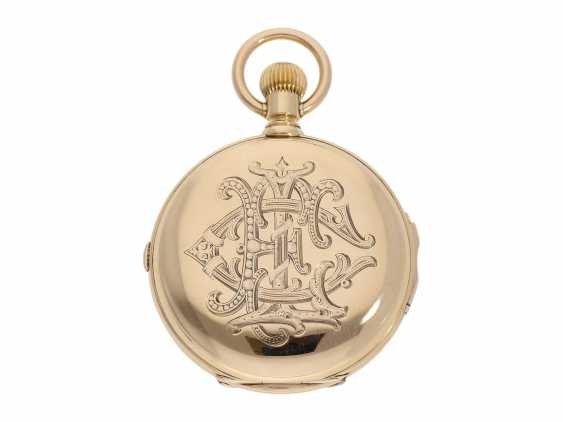 Pocket watch: extremely rare and particularly severe gold savonnette minute repeater and Chronograph, Louis Audemars, No. 13368, CA. 1882 - photo 7