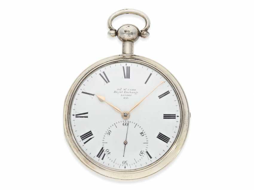 "Pocket watch: extremely heavy, high-fine English Pocket chronometers ""best"" quality, signed James McCabe No. 633, Hallmarks 1816 - photo 2"