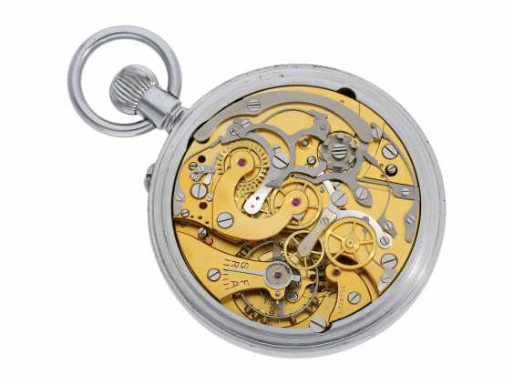 Pocket watch: great Watch, with Chronograph and Register, probably Observation chronometers for the French Navy, J. Auricoste, Horloger de la Marine, 10, rue la Boetie à Paris, circa 1945-1950 - photo 2