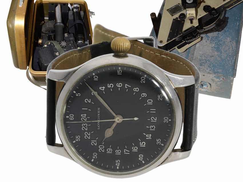 Watch: absolute rarity, unique Navigation Set, one of only 4 known to Longines pilot's watches of Ref.6630-1 and other rare navigation Instruments from the estate of a major Lufthansa pilots, with Longines master excerpt from the book, 1954 - photo 1