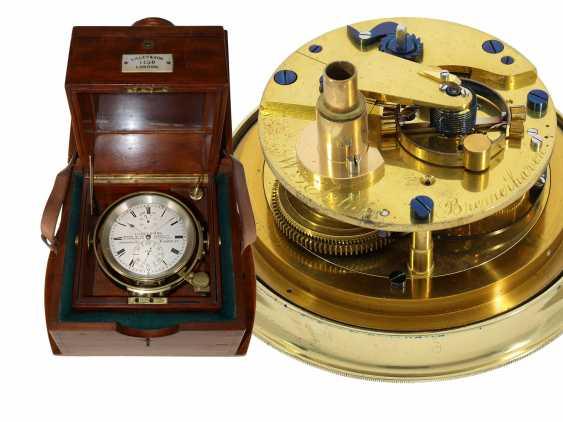 Marine chronometer: early, interesting English marine chronometer, double case, Lilley & Son, London, No. 1753, Royal chronometer maker, about 1900-1910 - photo 1