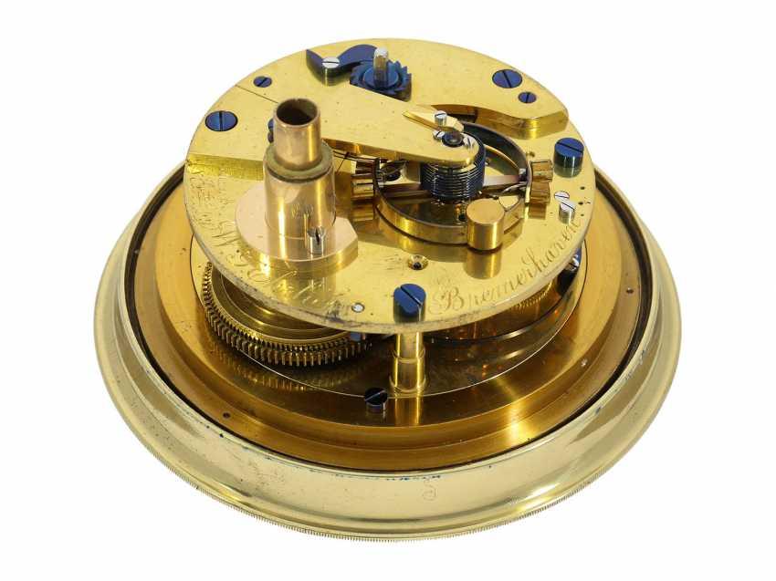Marine chronometer: early, interesting English marine chronometer, double case, Lilley & Son, London, No. 1753, Royal chronometer maker, about 1900-1910 - photo 2