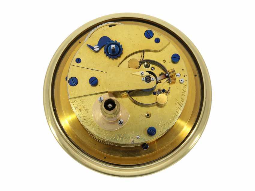 Marine chronometer: early, interesting English marine chronometer, double case, Lilley & Son, London, No. 1753, Royal chronometer maker, about 1900-1910 - photo 4